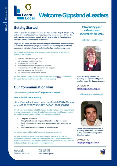ACFE eLeaders newsletter