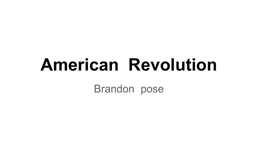 American Revolution - BrandonL Posey
