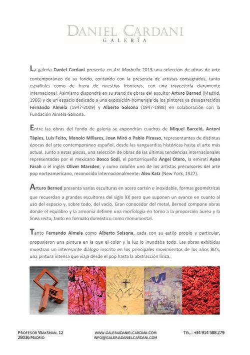 Daniel Cardani - Art Marbella 2015