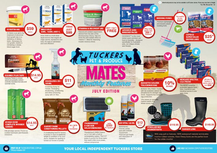 Tuckers Mates Monthly Features - July Edition