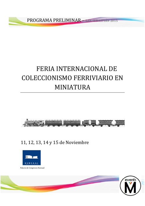 FERIA INTERNACIONAL DEL COLECCIONISMO FERROVIARIO EN MINIATURA