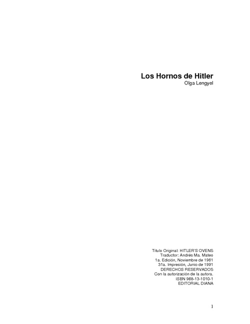 LOS HORNOS DE HITLLER