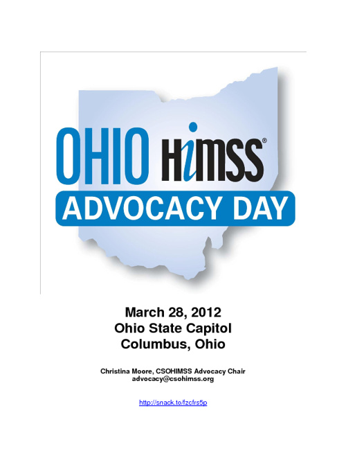 Ohio HIMSS Advocacy Day 2012