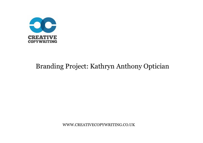 Kathryn Anthony: Branding Project