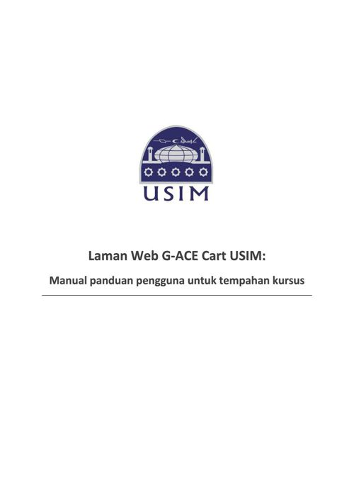 User manual laman web G-ACE