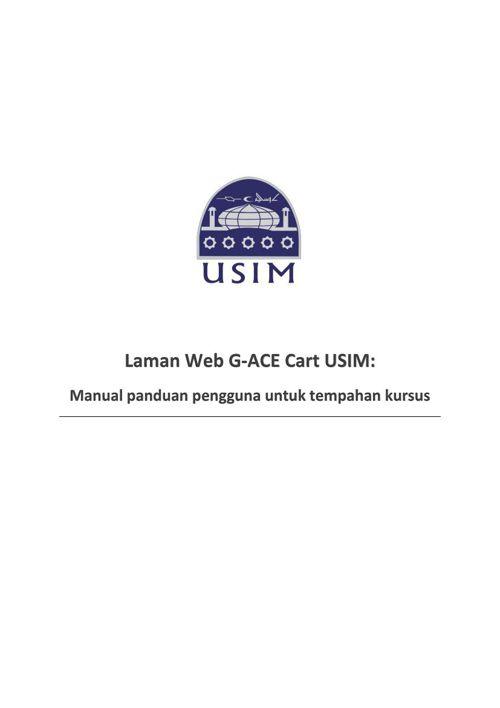 User manual laman web G-ACE
