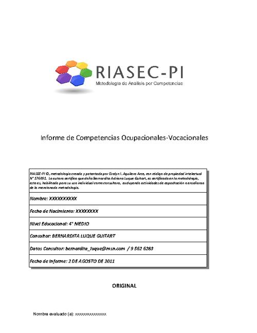 New Flip 4Ejemplo de Informe de Competencias Ocupacionales