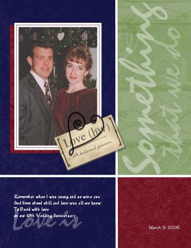 Anna and David Tenth Anniversary