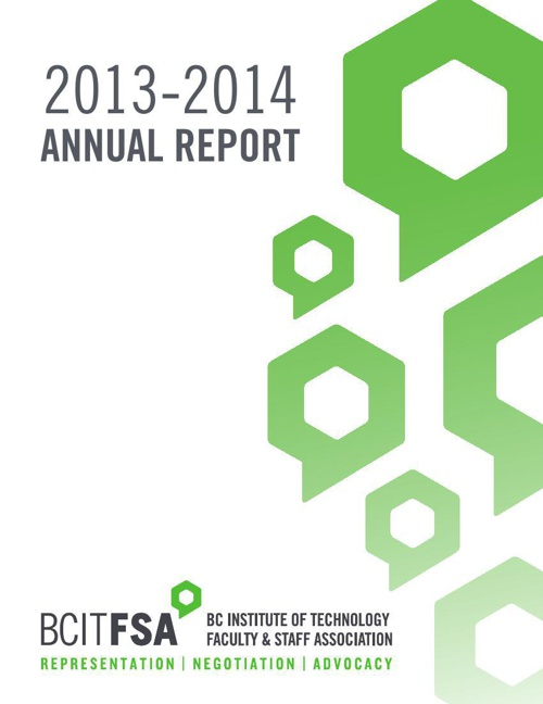 2013-2014 BCIT Faculty & Staff Association Annual Report