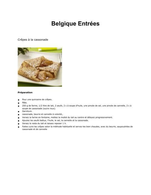 La Cuisine de Belgique