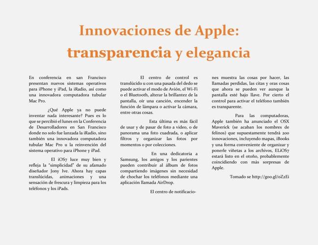 Innovaciones de Apple