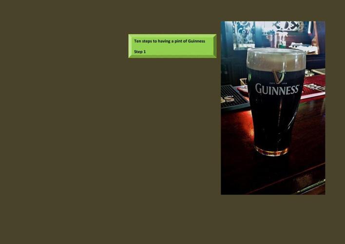 ten steps to having a pint of guinness by Brendan Mooney