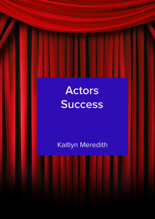 my acting book
