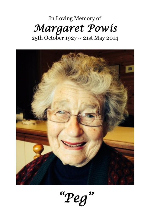 4 Order of Service for Margaret Powis