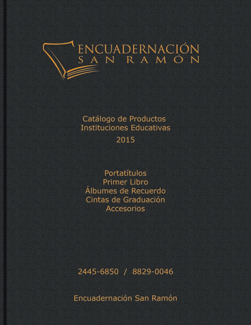 Catálogo Encuadernación San Ramón 2015