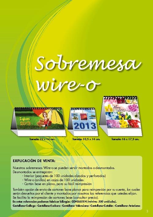 CALENDARIOS SOBREMESA ESPIRAL