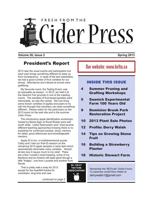 Cider Press Newsletter May 2013