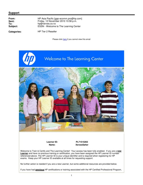 Hp Learning Centre