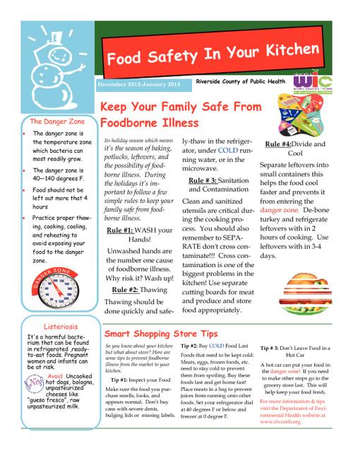Decemer 2012 - January 2013 Newsletter