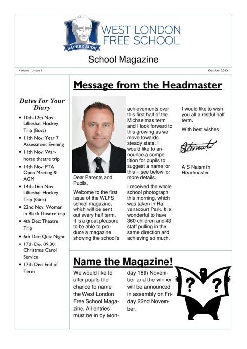 Orator Issue 1