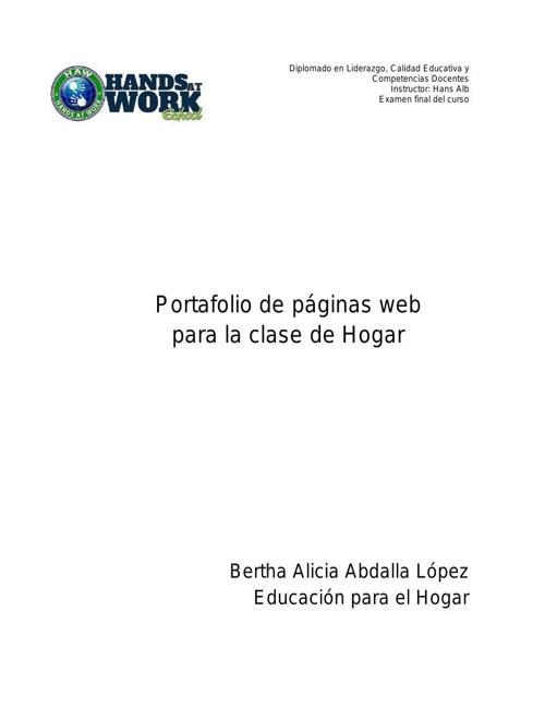 Web aplicables para la clase de Hogar