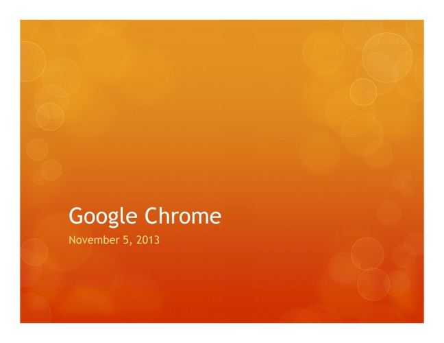 Google Chrome Tech Tip Tuesday