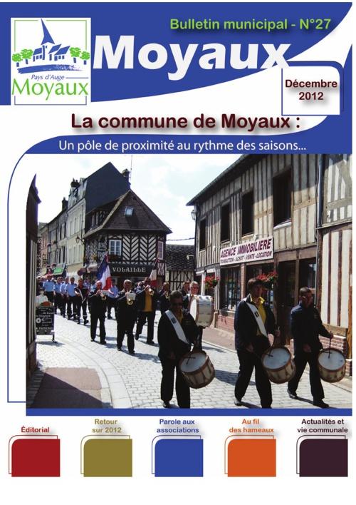 Bulletin Municipal 2012 de la commune de Moyaux