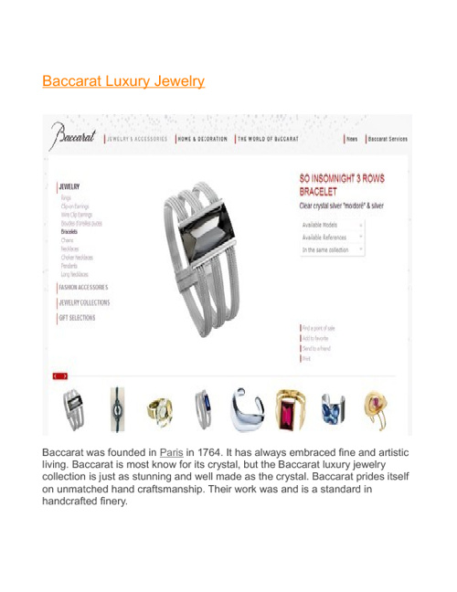 Baccarat Luxury Jewelry