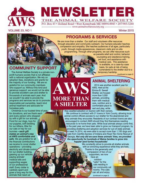 AWS Winter Newsletter 2015