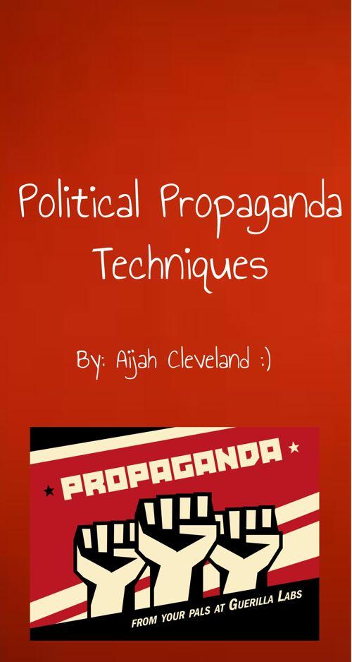 Political Propaganda Techniques