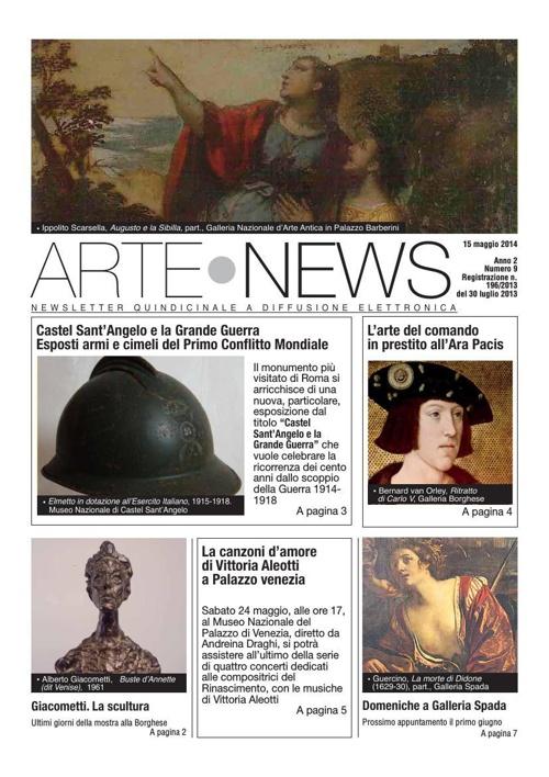 """""""Arte News"""" - 15 maggio 2014"""