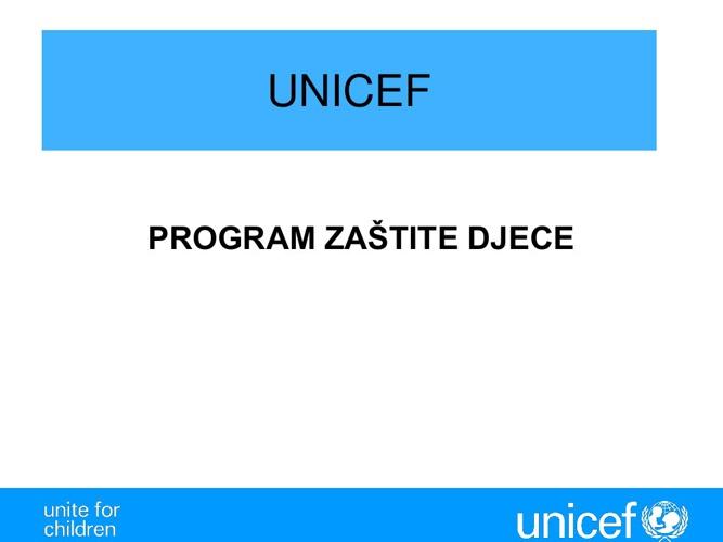 UNICEF program dječije zaštite Mario Tokić