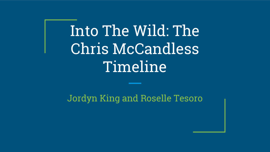 Into The Wild- The Chris McCandless Timeline