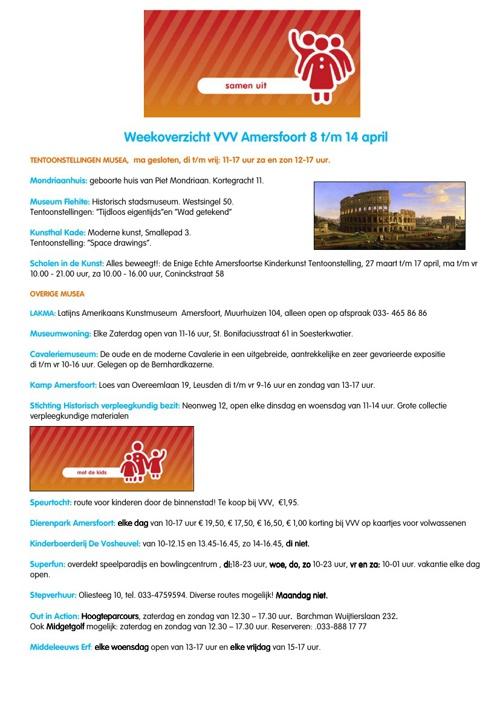 Activiteitenoverzicht week 15