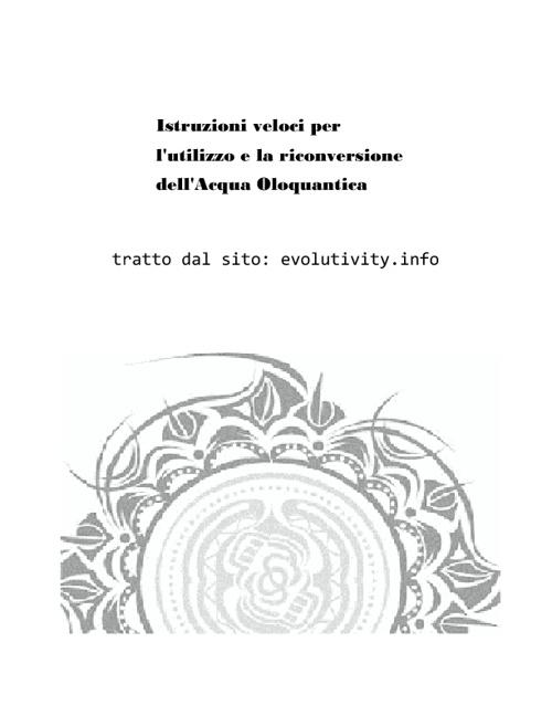 Acqua Oloquantica