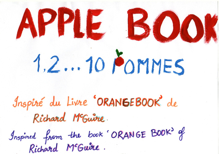 Apple Book - 1,2,3...10 Pommes!