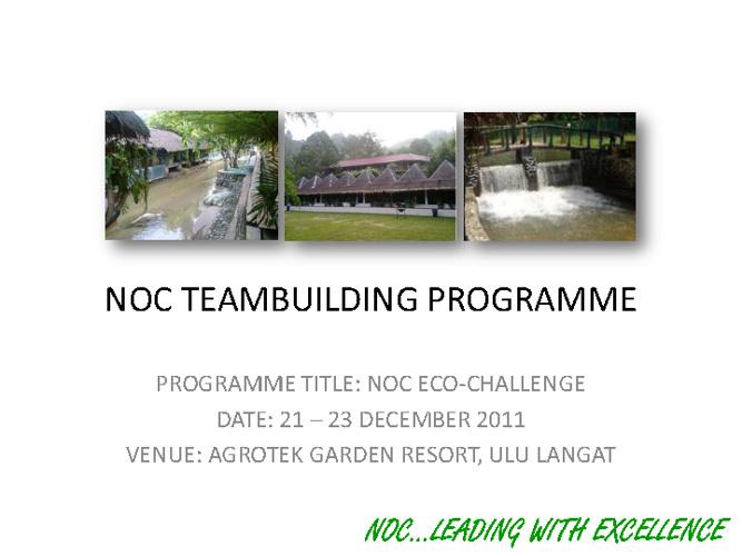 NOC Teambuilding