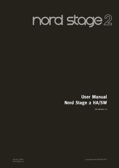 Nord Stage 2 manual