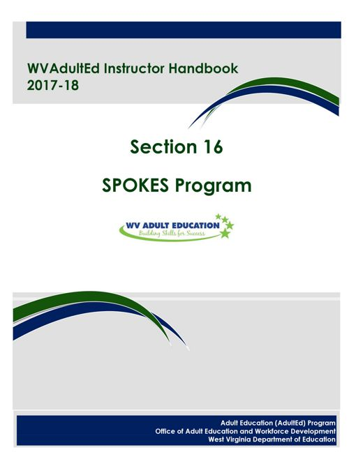 WVAdultEd Instructor Handbook 2015 - 2016 Section 16