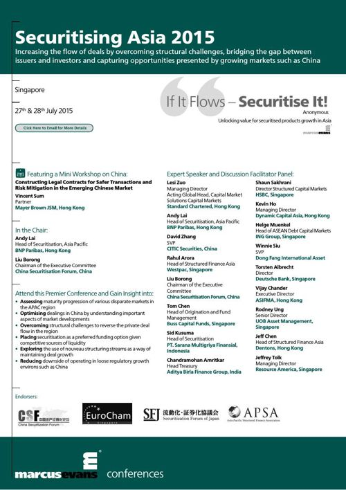 Securitising Asia 2015 Conference - SFJ
