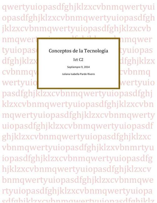 Conceptos de la Tecnología