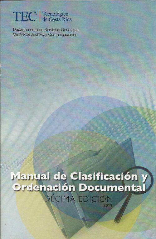 Manual de Clasificacion y Ordenación Documental