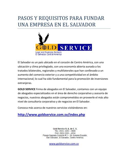 Firma Legal en El Salvador