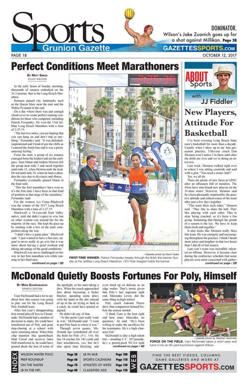 Grunion Sports | October 12, 2017
