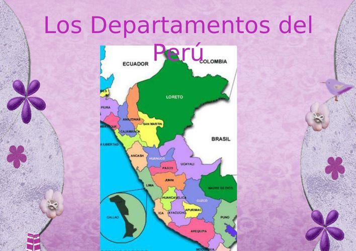 Los Departamentos del Perú
