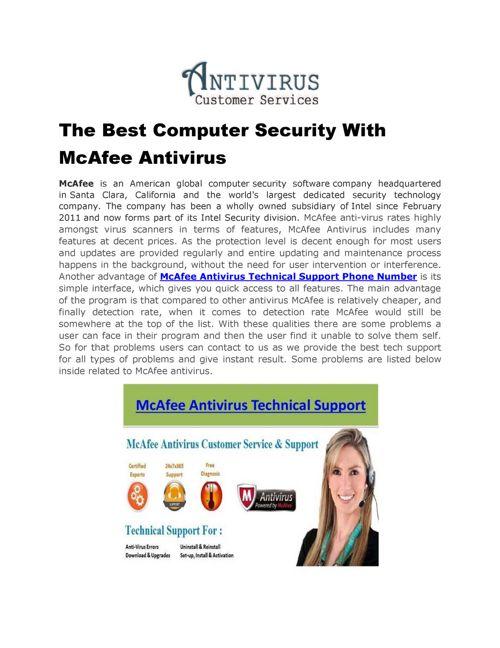 McAfee Antivirus Technical (1-877-778-8969) Support Phone