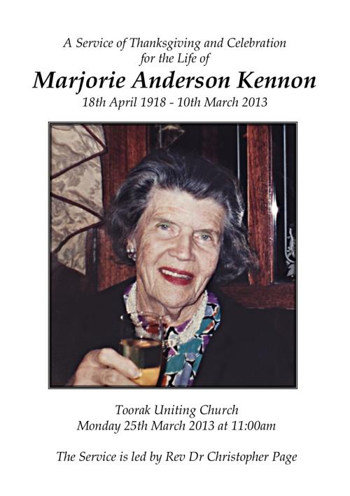Marjorie Kennon