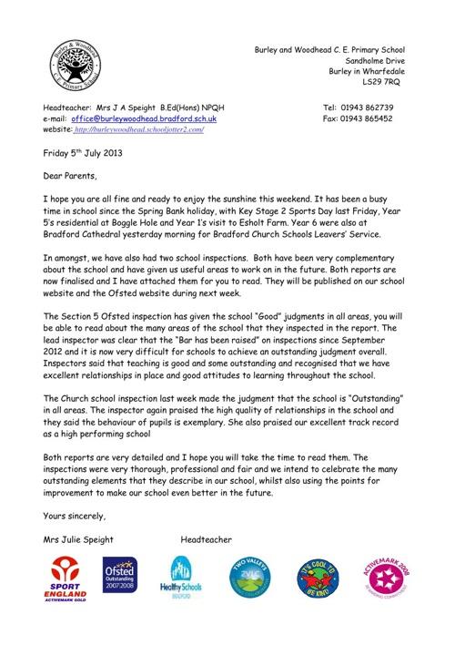 Letter - July 2013