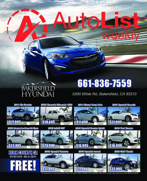 AutoList Weekly - Kern County - Volume 1 - Edition 1