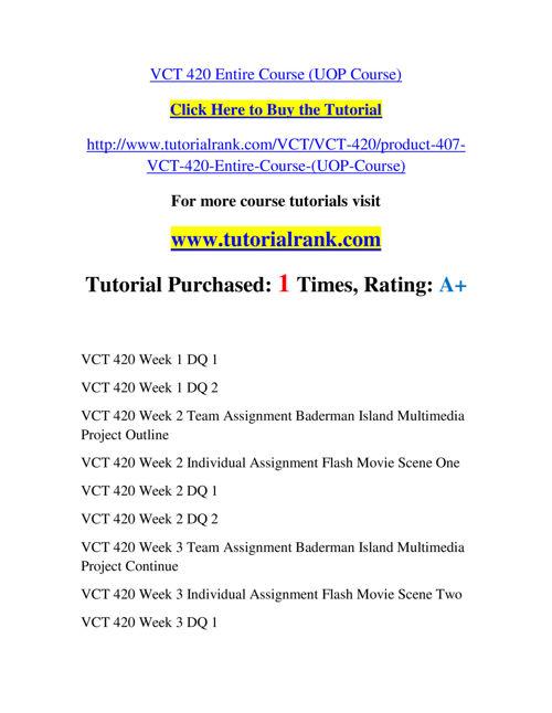 VCT 420 Slingshot Academy / Tutorialrank.Com